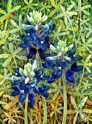 Texas Hill Country Painting - Garden Jewels I by Hailey E Herrera