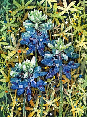 Texas Hill Country Painting - Garden Jewels II by Hailey E Herrera