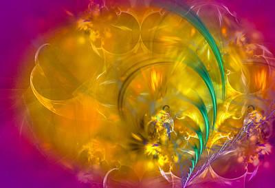 Spiritual Digital Art - Garden Of Dreams by Modern Art Prints