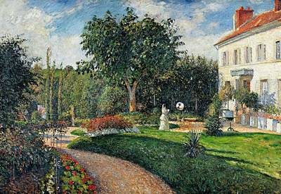 Garden Of Les Mathurins At Pontoise Print by Camille Pissarro