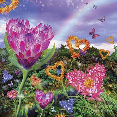 Garden Of Love 2 Print by Alixandra Mullins