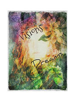 Gaia Digital Art - Garden Of Visions And Dreams by Absinthe Art By Michelle LeAnn Scott