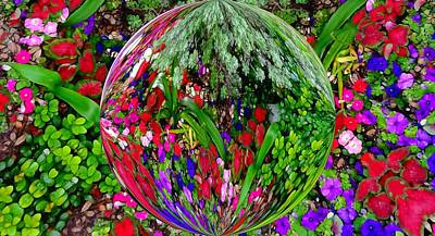 Mosaic Mixed Media - Garden Orb by Dan Sproul