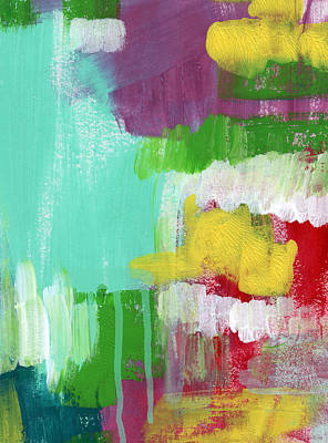 Drips Painting - Garden Path- Abstract Expressionist Art by Linda Woods