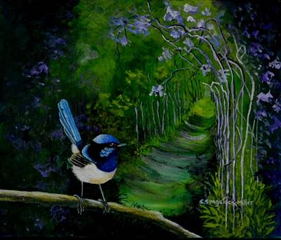 Fauna Painting - Garden Path by Sandra Sengstock-Miller