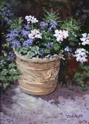 Flower Painting - Garden Planter by Richard De Wolfe
