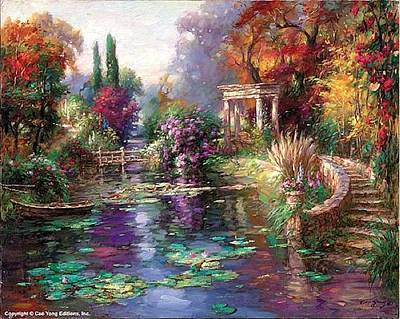 E 20 Painting - Garden Pond by Cao Yong