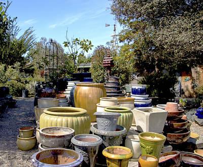 Ceramics Photograph - Garden Shoppe 2 At Windmill Farms by Barbara Snyder