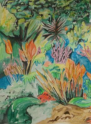 Garden Splendor Original by Esther Newman-Cohen