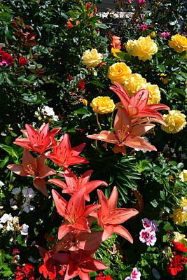 Closeup Print featuring the photograph Garden Splendor by Michelle Calkins
