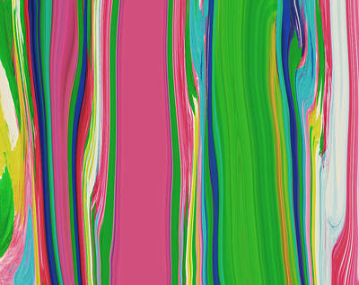 Vibrant Color Painting - Garden Stripes  C2014 by Paul Ashby