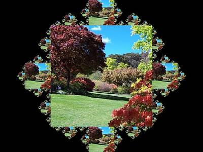 Garden Scene Mixed Media - Garden Walk Fractal by Nancy Pauling