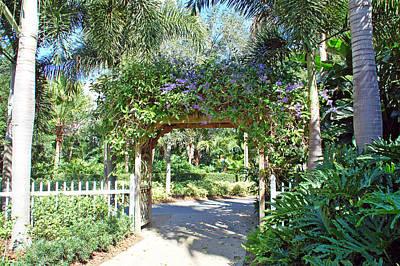 Garden Walkway Print by Aimee L Maher Photography and Art Visit ALMGallerydotcom