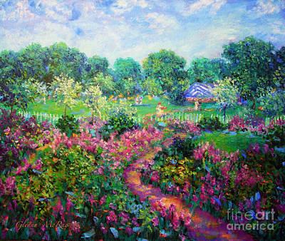 Beverly Hills Painting - Garden Wedding by Glenna McRae