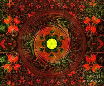 Garden Wheel Print by Elizabeth McTaggart