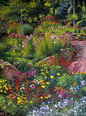 Garden's Edge Print by William Bukowski