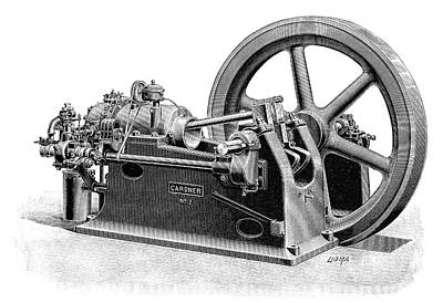 Gardner Gas Engine Print by Science Photo Library