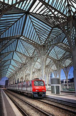Metro Art Photograph - Gare Do Oriente Lisbon by Carol Japp