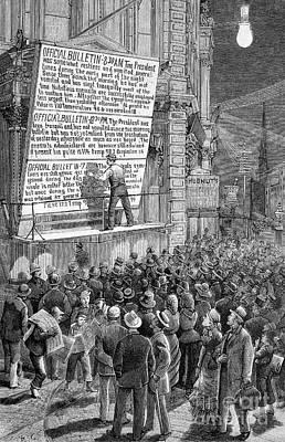 Garfield Assassination Bulletins, 1881 Print by Bildagentur-online