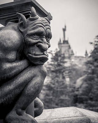 Magic Kingdom Photograph - Gargoyle by Adam Romanowicz