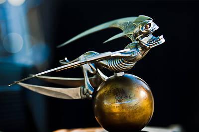 Gargoyle Photograph - Gargoyle Hood Ornament by Jill Reger