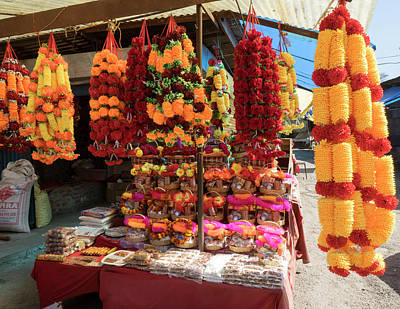 Devi Photograph - Garlands For Sale by Panoramic Images