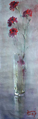 Carnation Painting - Garofano Per Lei by Ylli Haruni