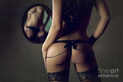 Nudes Photograph - Garter Belt And Stockings by Naman Imagery