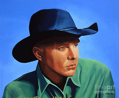 Harmonica Painting - Garth Brooks by Paul Meijering