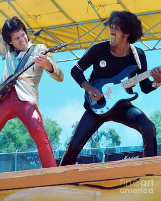 Gary Moore And Phil Lynott Of Thin Lizzy At Day On The Green 4th Of July 1979 - 1st Color Unreleased Print by Daniel Larsen