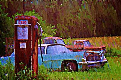 Gas And Go Print by Bill Cannon