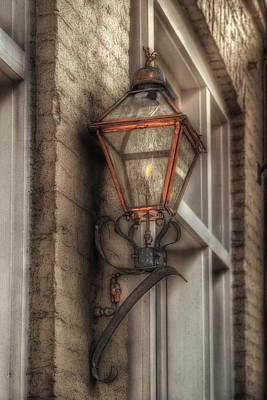 Gas Light Of New Orleans Print by Brenda Bryant