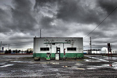 Premium Gas Photograph - Gas Station by Kevin Felts