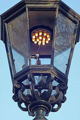 Gas Lamp Photograph - Gas Street Lighting by Alex Bartel