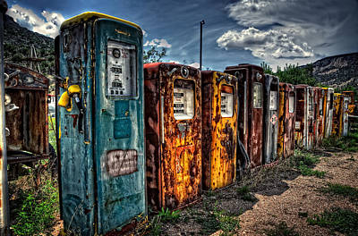 Premium Gas Photograph - Gasoline Alley by Ken Smith