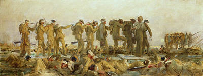The Great War Painting - Gassed    An Oil Study by John Singer Sargent