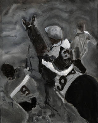 Belmont Stakes Painting - Gate Bound by Denise Boineau