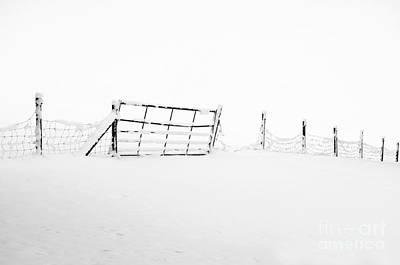 Gate In Snow Print by Anne Gilbert