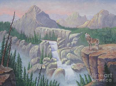 Gate Keeper Of The Canyon Print by Bob Williams