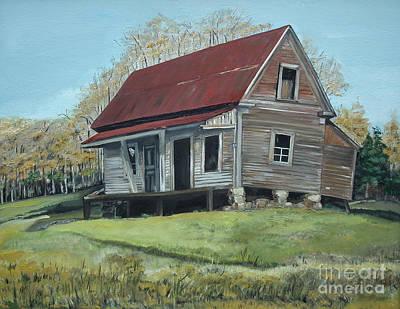 Abandoned Farm House Painting - Gates Chapel - Ellijay Ga - Old Homestead by Jan Dappen