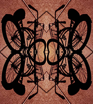 Gates Of Bicycle Heaven 2013 Print by James Warren