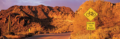 Southwest Gate Photograph - Gates Pass Road Tucson Mountain Park by Panoramic Images