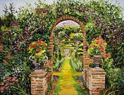 Garden Gates Painting - Gateway Of Brick by David Lloyd Glover