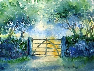 Gateway To The Harvest Field  Print by Trudi Doyle