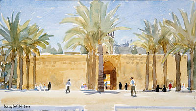Heat Drawing - Gateway To The Mosque by Lucy Willis