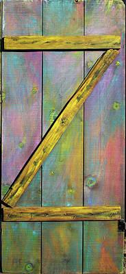 Gateway To Z Universe Print by Asha Carolyn Young