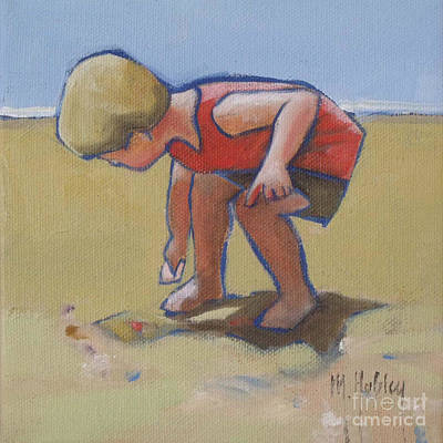 Gathering Shells Print by Mary Hubley