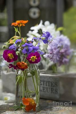 Gathered Photograph - Gathering Wildflowers by Edward Fielding