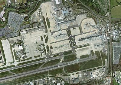 Gatwick Airport, Aerial Photograph Print by Getmapping Plc