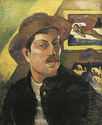 Self Portrait Photograph - Gauguin, Paul 1848-1903. Self Portrait by Everett